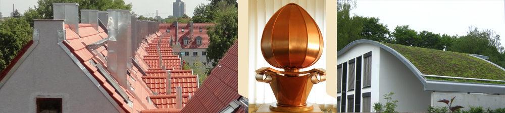 Gleiche Hausdächer, Meisterstück und Hausdach mit Begrünung.